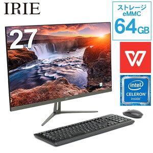 デスクトップパソコンOffice付きIRIEFFF-ALPC2701-WPS
