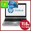 �ڹ���ǽ11.6��������̥�ǥ��HPEliteBook2170PNotebookPCWindows7-Home����ƥ�Corei7HDD:320GBBluetooth