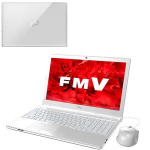 ※【訳あり】富士通FMVLIFEBOOKAH45/UFMVA45UWP[アーバンホワイト]+KingsoftOffice2013Windows8.1Home1TB4GBCorei3BD15.6インチ液晶