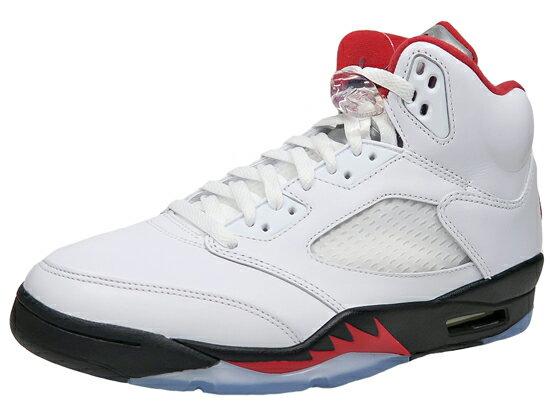 メンズ靴, スニーカー NIKE AIR JORDAN 5 RETRO 5 TRUE WHITEFIRE RED-BLACK 2020