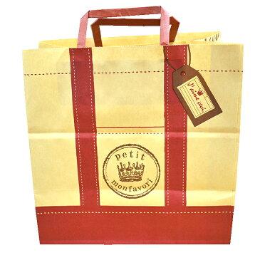 【手提げ紙袋】ファボリサック L(赤色) 1枚