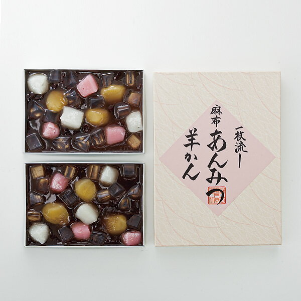 [東京]〈麻布昇月堂〉一枚流し麻布あんみつ羊かんのし・包装不可・代金引換不可