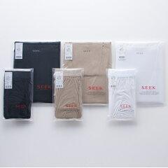 定番ギフトセレクショングンゼ〈SEEK〉Uネック半袖シャツ+ボクサーブリーフ(前あき)セット