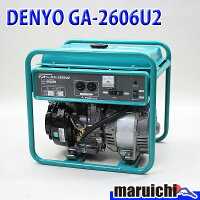 【中古】発電機DENYOGA-2606U2建設機械ガソリン100V60Hzデンヨー632