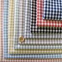 【3mmギンガムチェック 縫いやすいほどよいふんわり♪】交織 綿ポリ ダンガリー 品番8000-27【優しいカラー展開☆】【ギンガム:中 厚:3 ハリ:3】