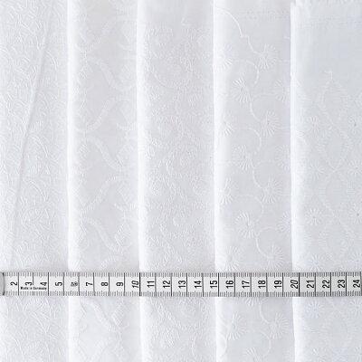 生地コットンエンブロイダリー刺繍ホワイト50cm単位