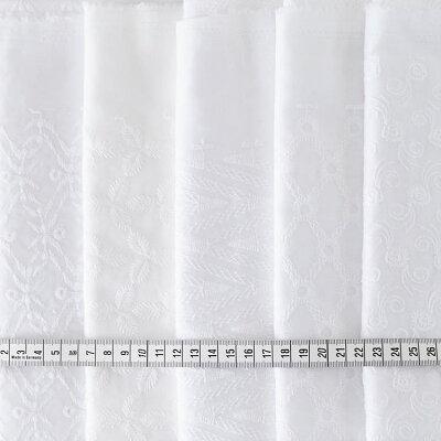 コットンエンブロイダリー20cm×45cmサンプル19種類
