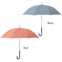 2019年【@quashack】超はっ水ストライプリボン長傘[2色]アクアスハックレディース女性傘雨傘軽量おしゃれ通勤通学水はじき抜群