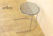 arflexアルフレックスTONDO10万トンドコーヒーテーブルTON-1サイドテーブル/ガラステーブル【NEW】【中古家具/中古インテリア/USED家具ユーズド家具/リサイクル】【中古】