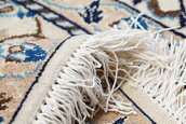 イラン製ペルシャ絨毯ナイン産手織りウールカーペットラグ絨毯敷物【中古家具/中古インテリア/USED家具ユーズド家具/リサイクル】