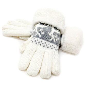 供手套女士手套編織物手套人手套女士手套手套手套手套手套男性使用的女性庸人氣漂亮的通勤上學動物動物秋天冬天暖毛皮圍巾毛皮圍巾手套禮物禮物防寒毛皮圍巾聖誕節