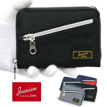 全品送料無料 JEANISM EDWIN 二つ折り財布 メンズ 冬 ラウンドファスナー グレー/ブラック/レッド/ネイビー
