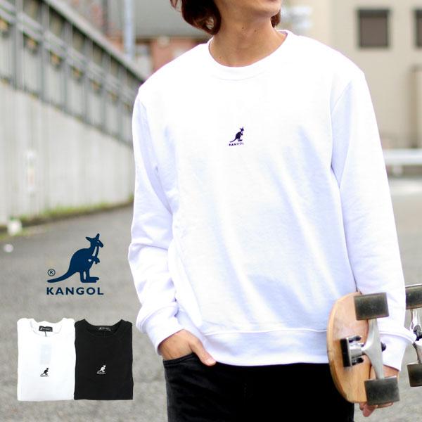 カンゴール スウェット トレーナー メンズ 春 裏毛 ワンポイント ロゴ 刺繍 ホワイト/ブラック M/L<br><br>