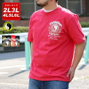 TC Tシャツ 大きいサイズ メンズ 夏 半袖 プリント ブラック/レッド/ネイビー 2L/3L/4L/5L/6L