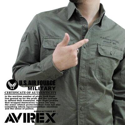 AVIREX/アビレックス 〜ツイル素材〜 『ICER』 オフィサーシャツ