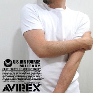 全品送料無料 AVIREX Tシャツ メンズ ストレッチテレコ素材 ホワイト/グレー/チャコール/ブラック S/M/L/XL