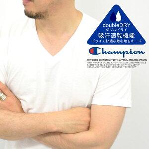 Champion/チャンピオン C71-605 〜2枚組〜 全2色! 『Vネック』パック入り 無地半袖Tシャツ【アメリカン/アメカジ/セット/お得/無地/シンプル/ベーシック/BEGIN/Lighthing/2nd/雑誌掲載/USA/ベッカム/セレブ/Safari】