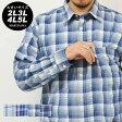 【送料無料】 大きいサイズ メンズ Marukawa マルカワ 〜サッカー素材〜 全4色2L 3L 4L 5L 先染チェック柄 長袖シャツ