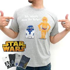 スターウォーズ Tシャツ メンズ ダースベイダー R2D2 プリント【マルカワ/STAR WARS/ディズニー/キャラクター/ペアルック/かわいい/おもしろ/ストームトゥルーパー/C3