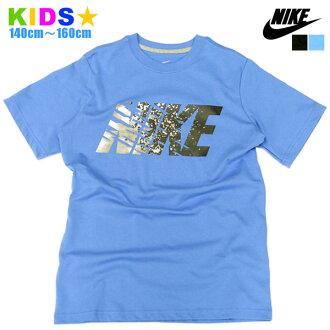 NIKE T恤短袖小孩[小丸川韓國男人的子女的孩子童裝頂端針織短袖T恤標識印刷耐吉黑色圖像受歡迎的生日禮物禮物]