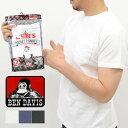 BEN DAIVIS ベンデイビス ポケットTシャツ 2枚パック メンズ【パックT インナー 半袖 無地 アメカジ ブランド 通勤 通学 人気 おしゃれ ギフト 父の日 2枚組