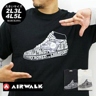 大的尺寸人T恤長袖子AIRWALK