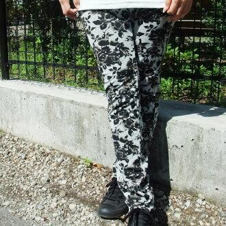 60% OFF mesh-like leggings rose pattern