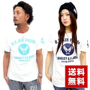 Tシャツ レディース オリジナル ユーエスエアフォース プリント マルカワ エアフォース アーミーエアフォース アメリカ ミリタリー
