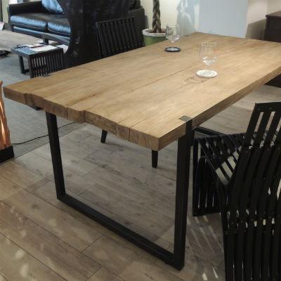 d-Bodhi(ディーボディ)セレベス ダイニングテーブル 160 180 古材 アイアン[ インダストリアルデザイン 木製 古材 チーク材 アイアンフレーム ]【送料無料】【代引不可】【幅160・180在庫なし 次回入荷1月中旬〜】