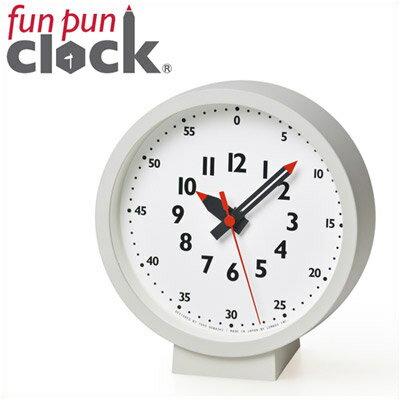 レムノス 置き時計 子供が見やすい時計 掛け時計 置き掛け兼用fun pun clock for table(ふんぷんくろっく テーブル) ホワイト かわいい シンプル 子供部屋 キッズ 【楽ギフ_包装】【在庫なし4月末(2)3-24】【●】