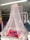 女の子の憧れ♪ビジュースリーピングカーテン(天蓋カーテン)【ピンク】※定形外可390円