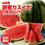 訳有り山形産スイカ1玉(5-8kg)