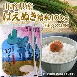 山形県産米はえぬき10kg(5kg×2袋)【楽ギフ_のし】【楽ギフ_のし宛書】【楽ギフ_メッセ入力】