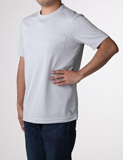 虫よけさらっとTシャツ 半袖 Mサイズ グレー  沖縄 北海道 離島除く