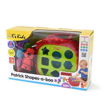 ケーズキッズ パトリック・シェイプスアブー DA106378-MG 7007861 ベビー オモチャ おもちゃ 知育玩具 形合わせ 1歳 2歳 プレゼント Ks Kids