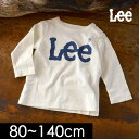 【メール便可】リー9184253-14Mロゴ長袖Tシャツ キッズ ベビー トップスシンプルロゴカジュアルロンT 子供服 Lee 4019171