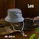 【メール便不可】リー 9185356_9185433_9185585-MG LEEデニムハット キッズ ベビー 帽子 ぼうし ファッション小物 日よけ あご紐 サイズ調節 アウトドア シンプル 子供服 Lee 7008987 1