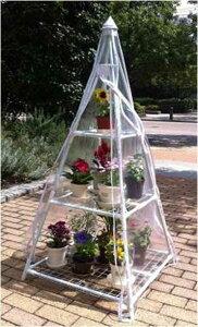 パイプを差し込むだけの簡単組立!家庭用 温室 簡易温室 フラワースタンド カーデニング 冬季 ...