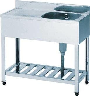 azuma 1槽排水器洗滌槽右水槽900*450*800[KPM1900R]銷售學分:1(進入數量:-)JAN[4兆5601億5587萬零393](azuma洗碗池)株式會社東面製造廠[05P03Dec16])