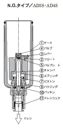 SMC オートドレンADシリーズ【AD38】圧縮空気清浄化機器 販売単位:1個【05P03Dec16】