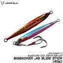 (5)【メール便配送可】ジャッカル ビッグバッカージグ スライドスティック (重さ:40g サイズ:93mm) JACKALL BIGBACKER JIG SLIDE STICK