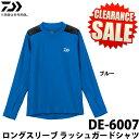 (5)【目玉商品】 ダイワ ロングスリーブ ラッシュガードシャツ (DE-6007)(カラー:ブルー...