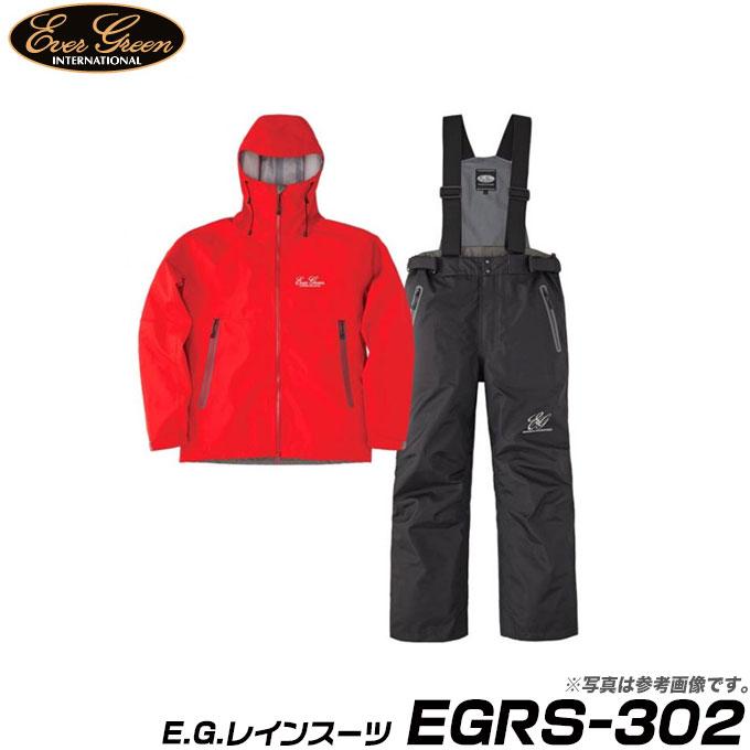(9)【取寄せ商品】 エバーグリーン E.G.レインスーツ (EGRS-302) (カラー:レッド/ブラック) (サイズ:S-3L) /Ever Green