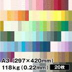 ミューズコットン 118kg(0.22mm) A3(297×420mm) 20枚 【パステル画、色鉛筆、水彩画、本の表紙、カード】