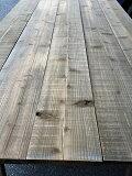 【送料無料!!】長さ1.95メートル厚み34ミリ程度幅20.5センチ程度【板】【木材】【古材風】【ビンテージウッド】国産材杉無垢板鉄媒染材