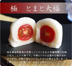 地元産自然栽培の完熟ミニトマトを丸三老舗特製の白餡で包みこんだ大福です。【期間限定】とま...