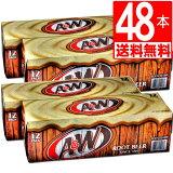 A&Wルートビア48缶セット[送料無料] ドクターペッパーやチェリーコークが好きなな方に是非お勧め
