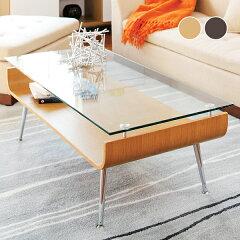 PHAGEE モダン ガラスローテーブル