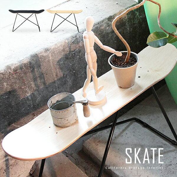 スケートボード スケートスツール スケートデッキスツール スケボーチェア サイドテーブル ローテーブル ベンチ 木製 約幅80cm 西海岸 カリフォルニアスタイル ビーチスタイル ヴィンテージ 男前 シンプル かっこいい[d]