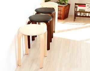 「PASELIパセリ」木製スツール省スペーススタッキングスツール丸椅子積み重ねできるコンパクト丸イスPVC革張りアイボリーホワイトブラック受付や店舗にもレトロ北欧家具風シンプルナチュラルモダンおしゃれ【送料無料】